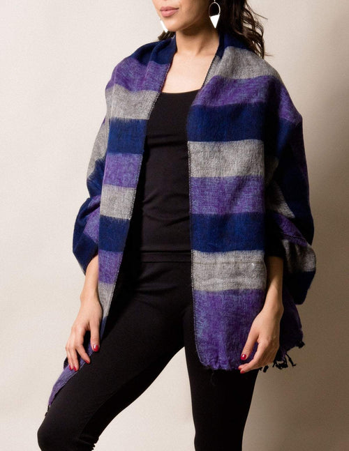 Himalayan Yak Wool Wrap - Purple Haze