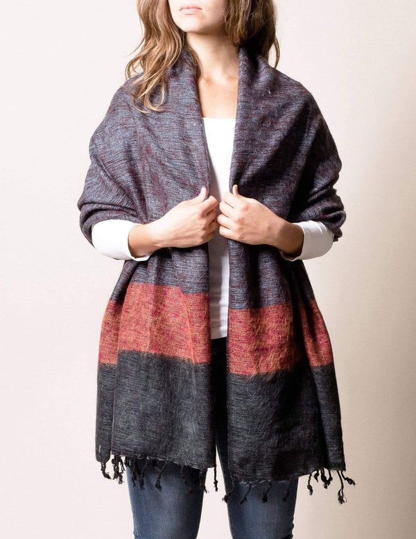 Himalayan Yak Wool Wrap - Red