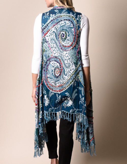 3-in-1 Jaipur Wrap - Blue Teal