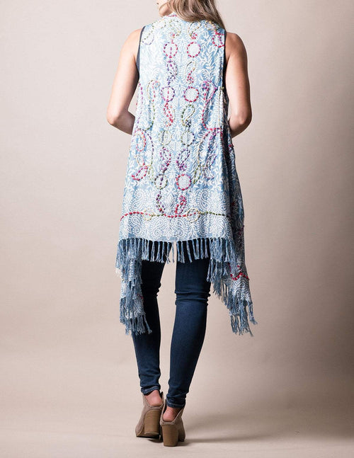 3-in-1 Jaipur Wrap - Sky