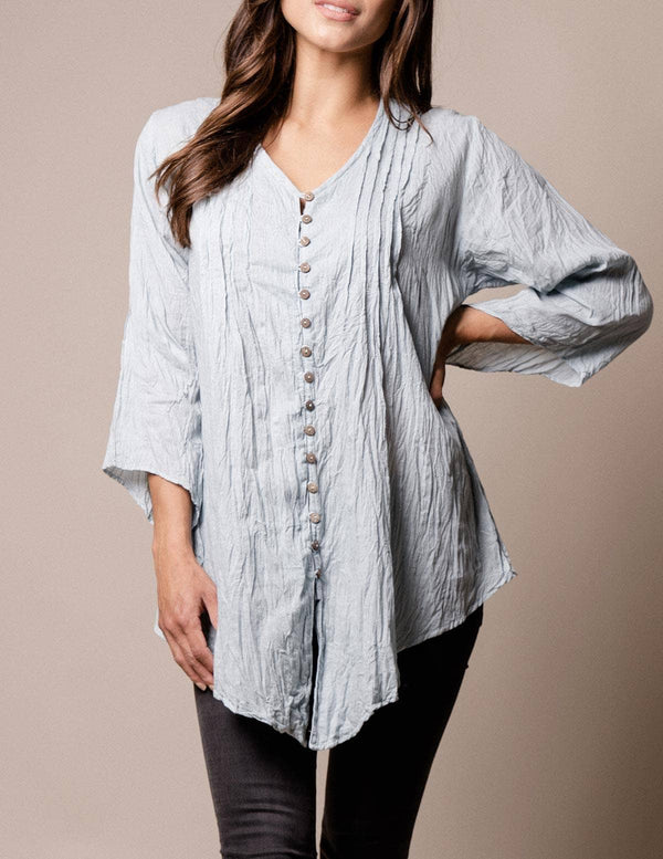 Kenzie Crinkle Cotton Tunic