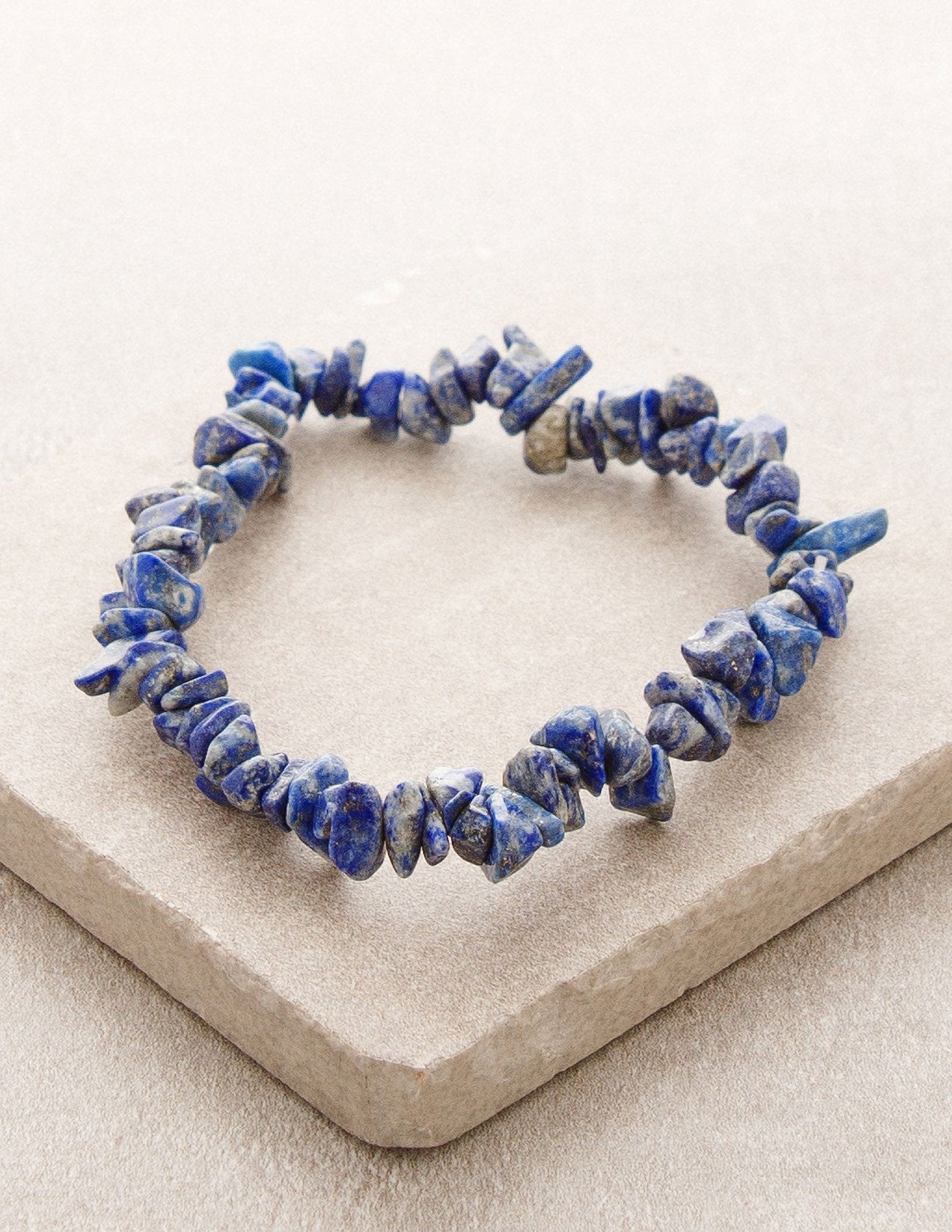 Lapis Gemstone Chip Bracelet