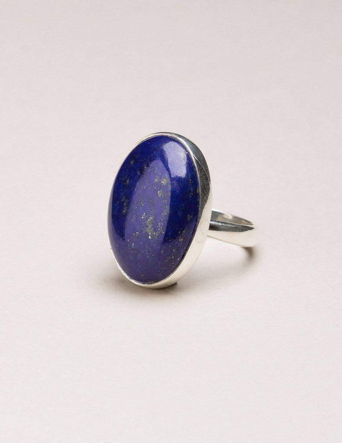 Lapis Gemstone Ring - Adjustable