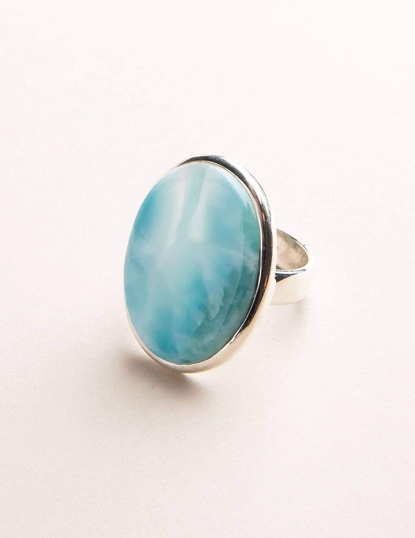 Larimar Gemstone Ring - Adjustable