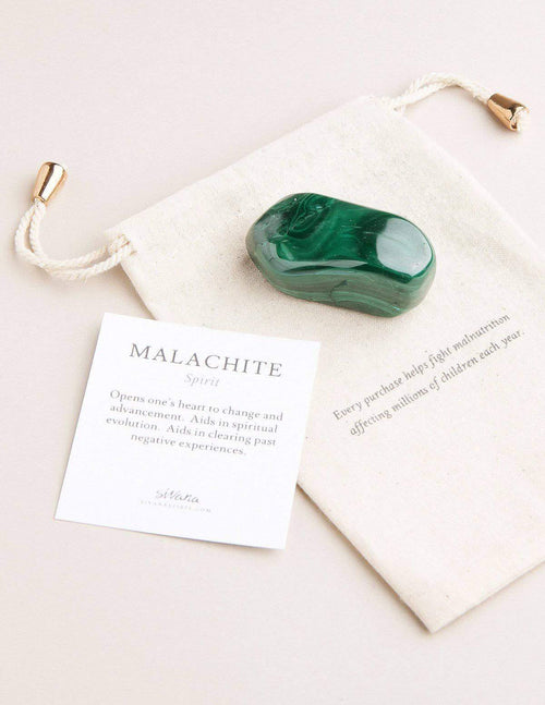 Malachite Palm Stone