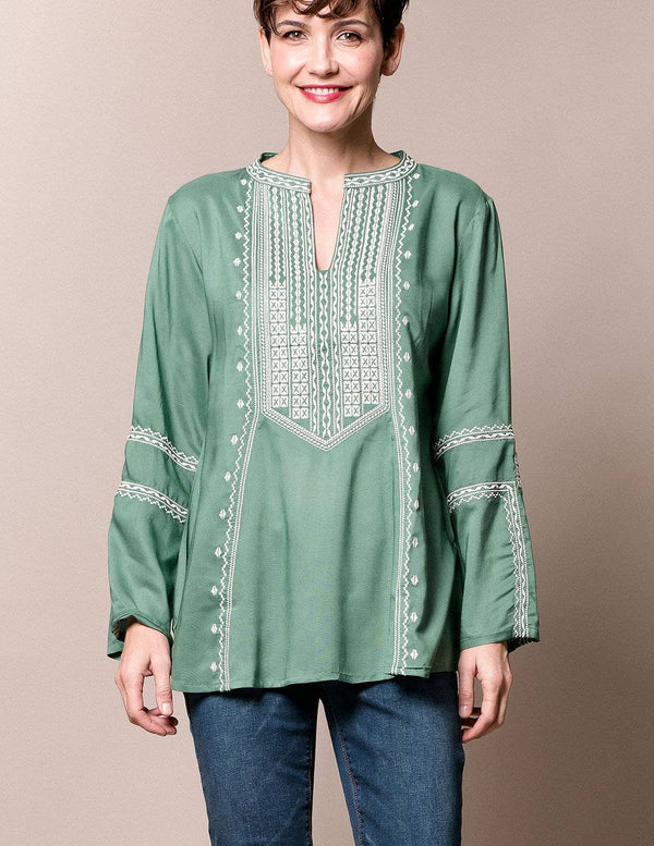 Marrakesh Tunic - Stone Green