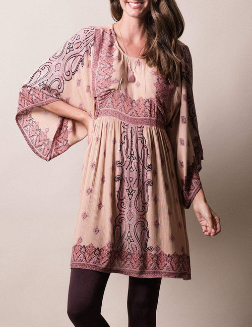 Mira Tunic Dress - Rose Blush