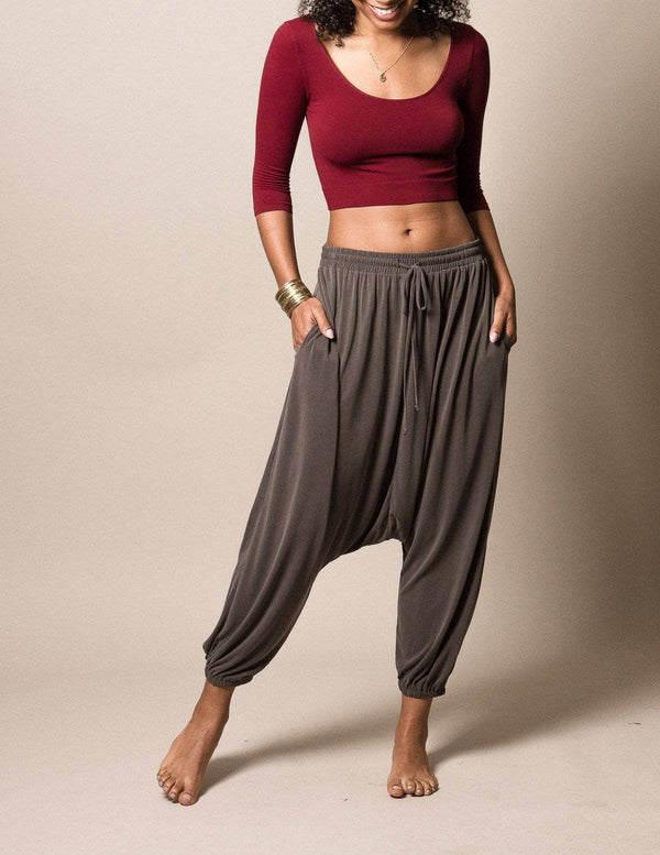 Modal Luxe Harem Pants - Sage - As Is Clearance