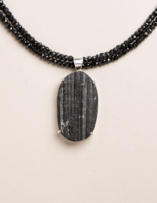 Natural Black Tourmaline Necklace - One of a Kind
