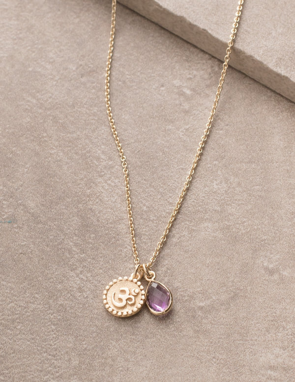 Om Amethyst Necklace