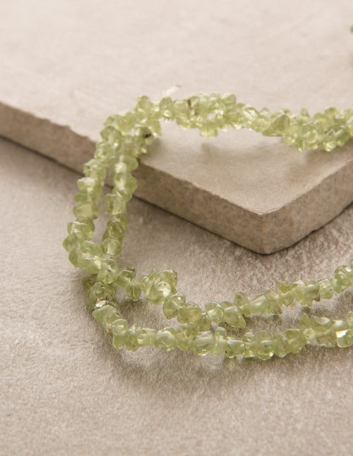 Peridot Gemstone Chip Necklace