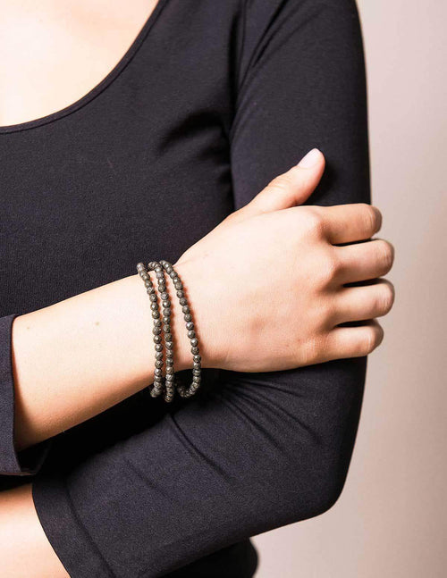 Pyrite Stretch Bracelet/Necklace