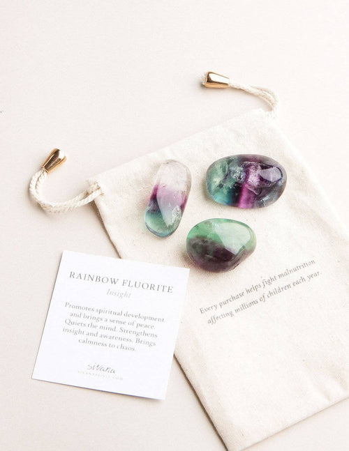 Rainbow Fluorite Pocket Stones - Set of 3