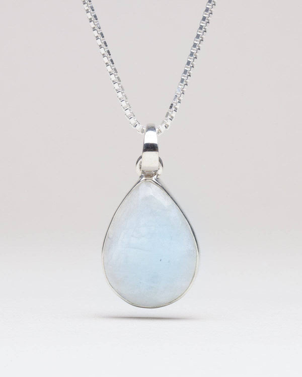 Rainbow Moonstone Pendant Necklace