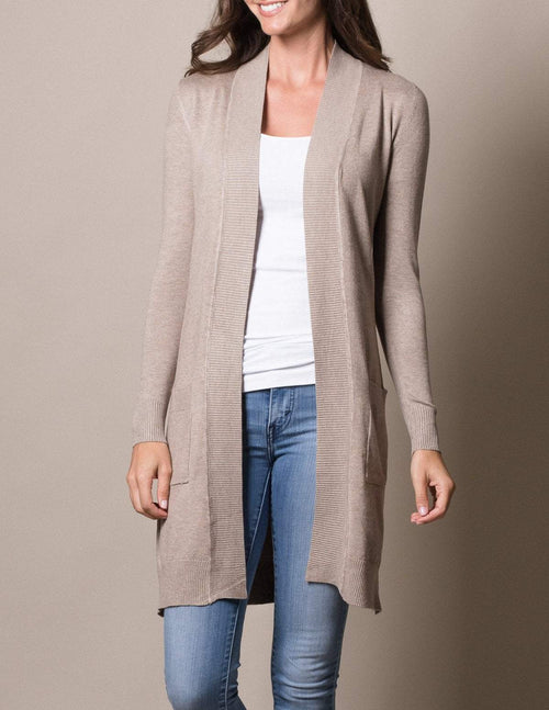 Retro Long Cardigan Wrap - Plus Sizes