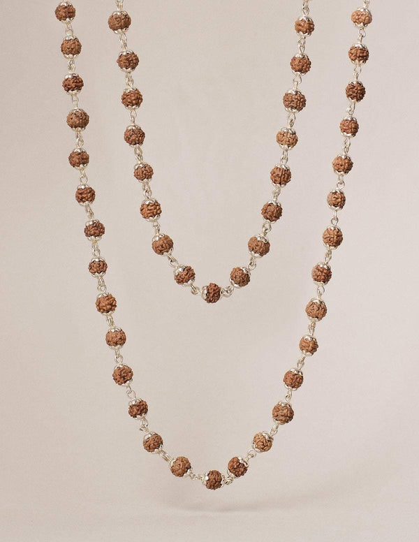 Rudraksha Sterling Silver Necklace