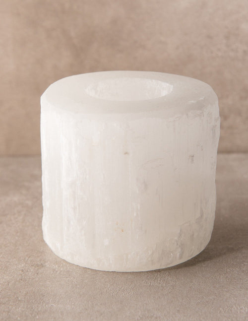 Selenite Crystal Candle Holder