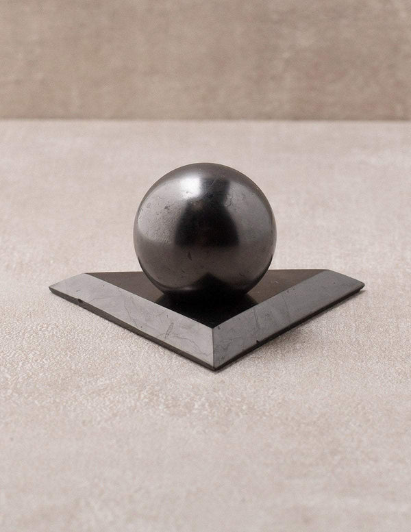 Shungite Sphere and Holder