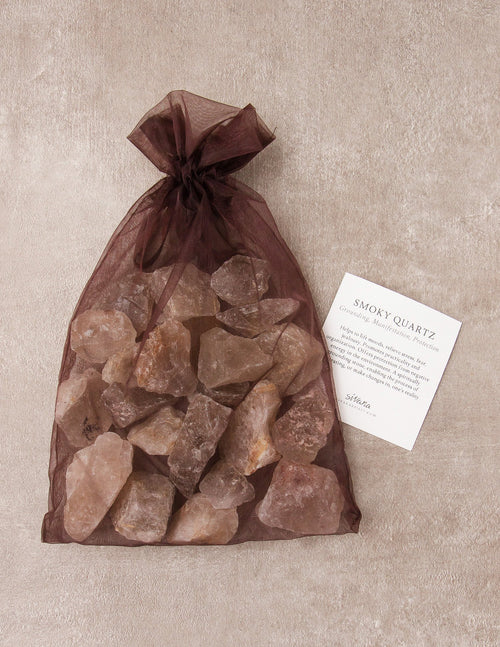 Smoky Quartz Crystal Healing Bath Stones