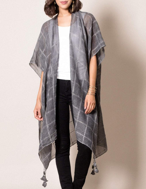 Sunset Shimmer Wrap - Charcoal