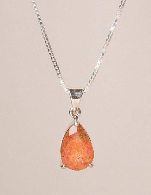 Sunstone Faceted Necklace