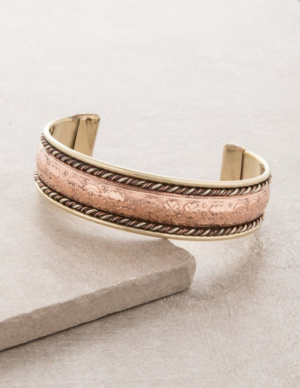 Tibetan Copper Tri-Metal Healing Bangle