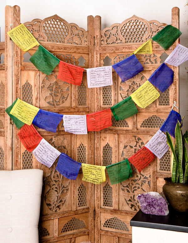 Tibetan Wind Horse Prayer Flags - 8 inch