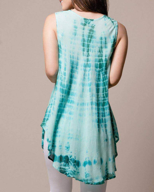 Tie-Dye Swing Tank - New Jade