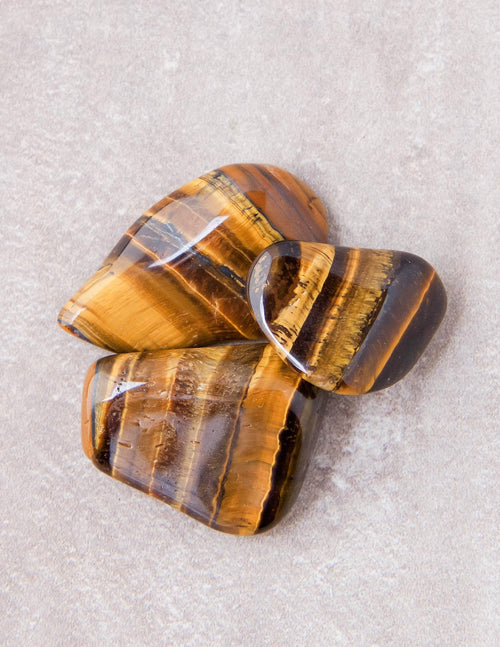 Tiger Eye Pocket Stones - Set of 2
