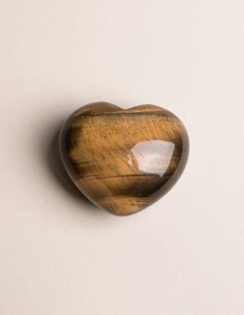 Tiger Eye Puffy Heart