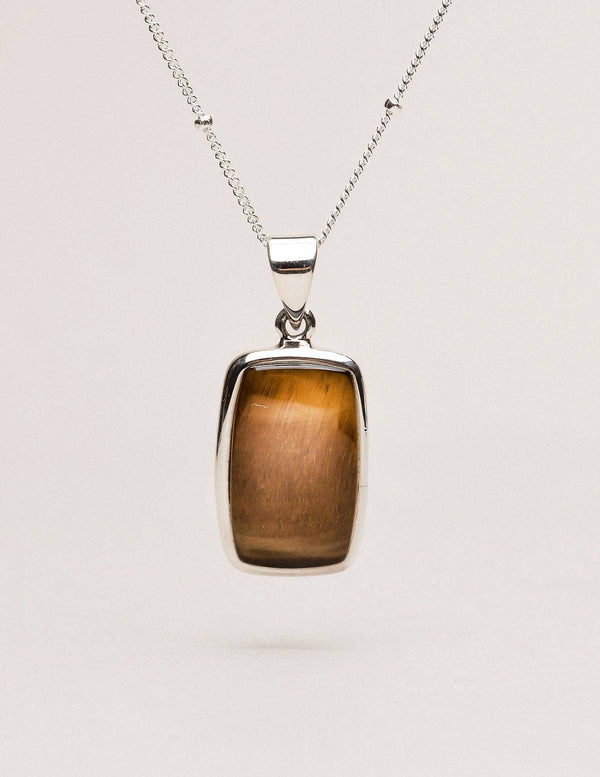 Tiger Eye Square Mini Pendant
