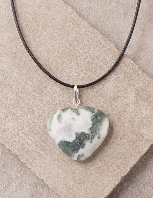 Tree Agate Heart Pendant