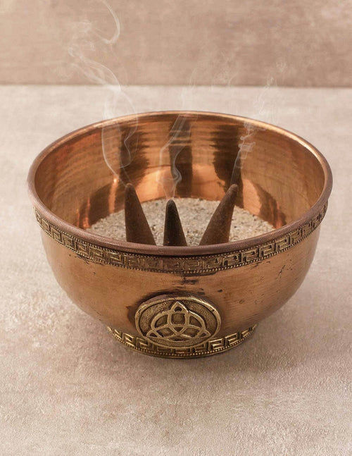 Triquetra Copper Incense Burner