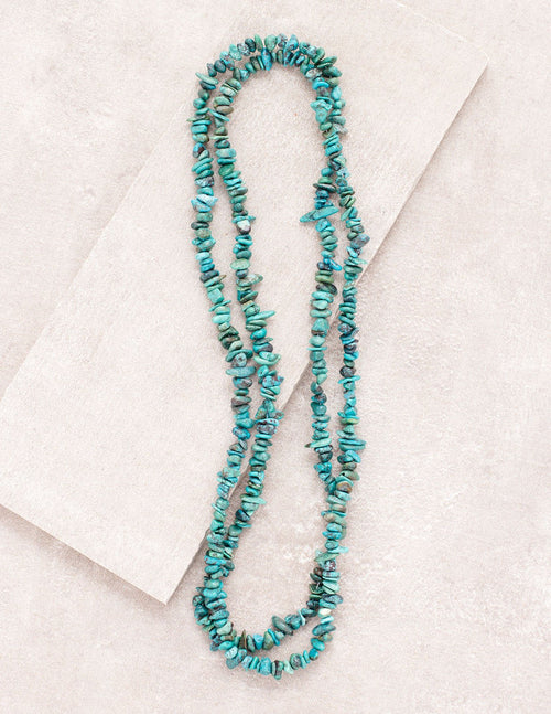 Turquoise Gemstone Chip Necklace