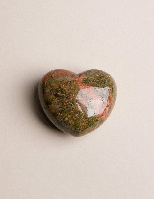 Unakite Puffy Heart