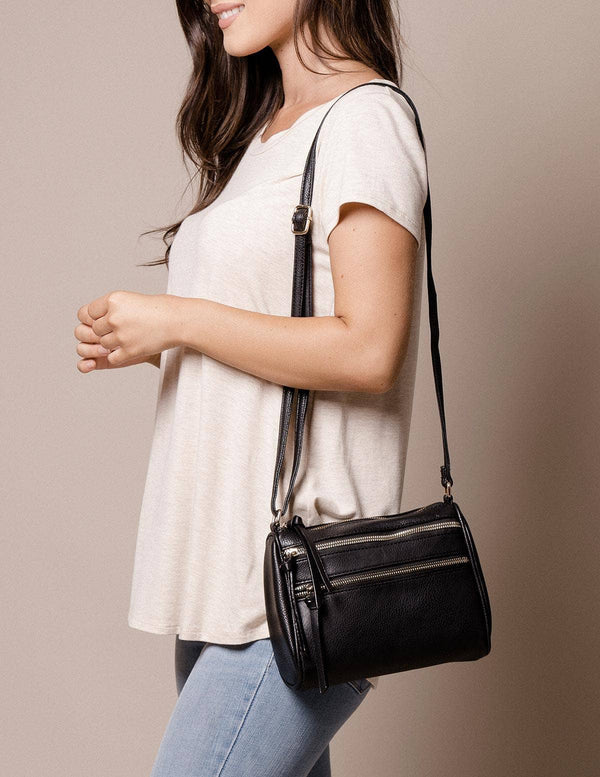 Vegan Leather Brooklyn Bag - Black