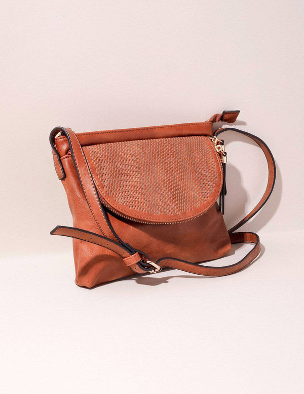Vegan Leather Crossbody Zara Bag - Brown