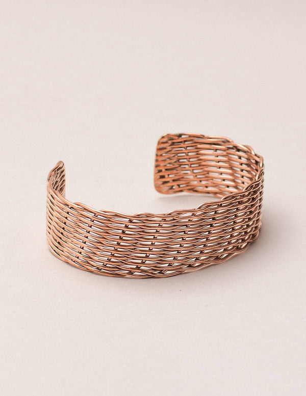 Handwoven Copper Healing Cuff