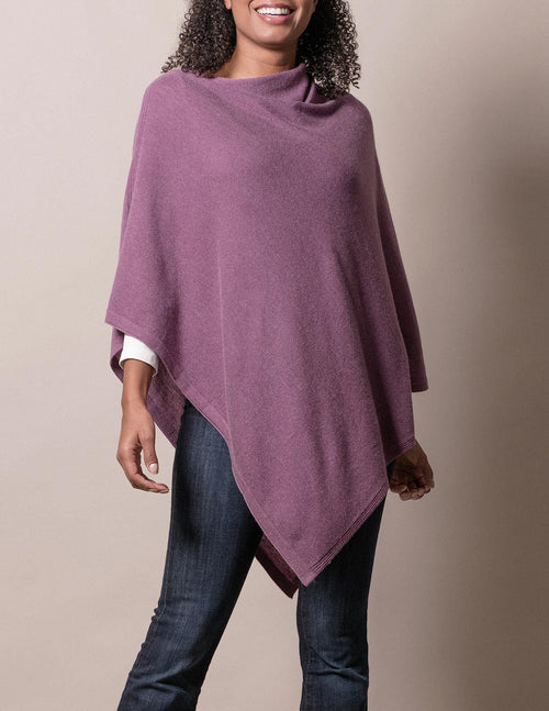 Cashmere & Wool Poncho - Lilac