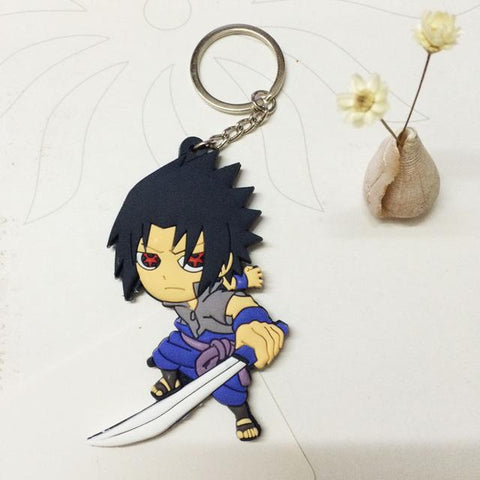 Naruto action figure keychain