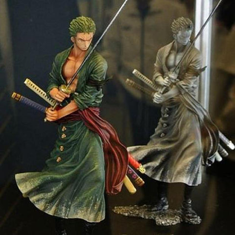 Image of Anime Figurine Action Figure One Piece Roronoa Zoro PVC Doll Model Toy 20cm