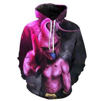 Image of Anime Dragon Ball Z Funny Buu 3D Men Women Hoodies