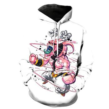 Anime Dragon Ball Z Funny Buu 3D Men Women Hoodies