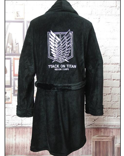 Anime Attack on Titan Flannel Bathrobe Shingeki no Kyojin Cloak Eren Cosplay