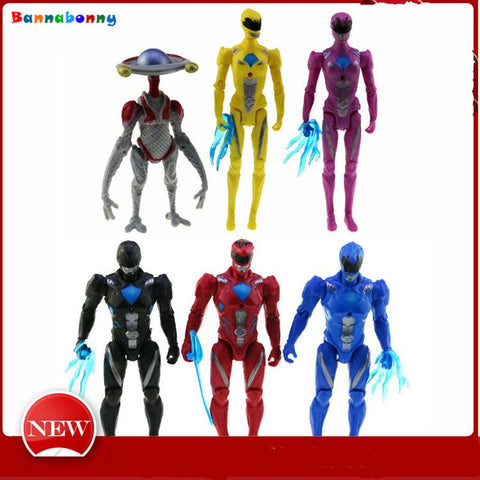 Image of 6PCS/Lot Power Ranger Model  Dolls with Led Light Action Figures toys
