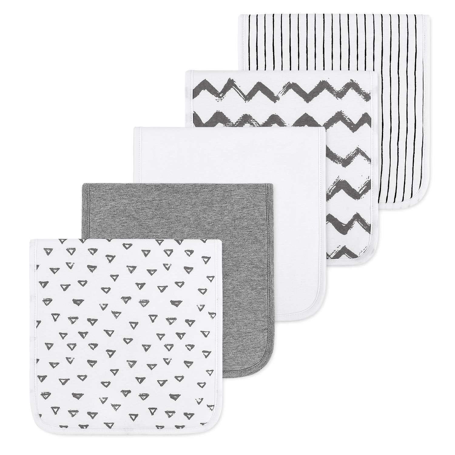 100% Organic Cotton Burp Cloths - 5 packs