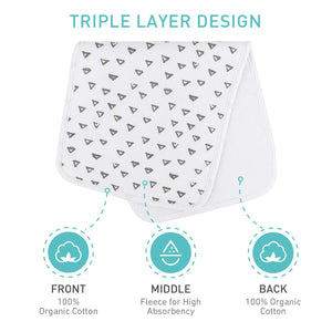 Baby Burp Cloths- 5 Packs