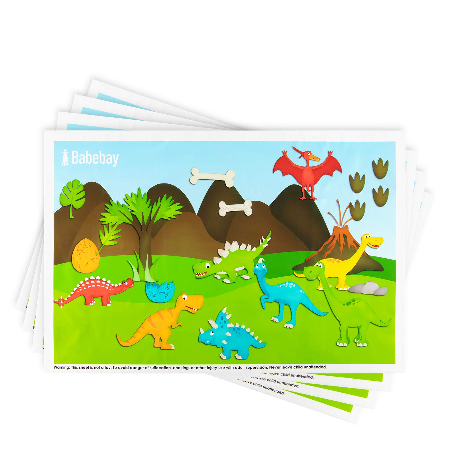 Disposable Placemats - Dinosaurs - 2Set 80pakcs