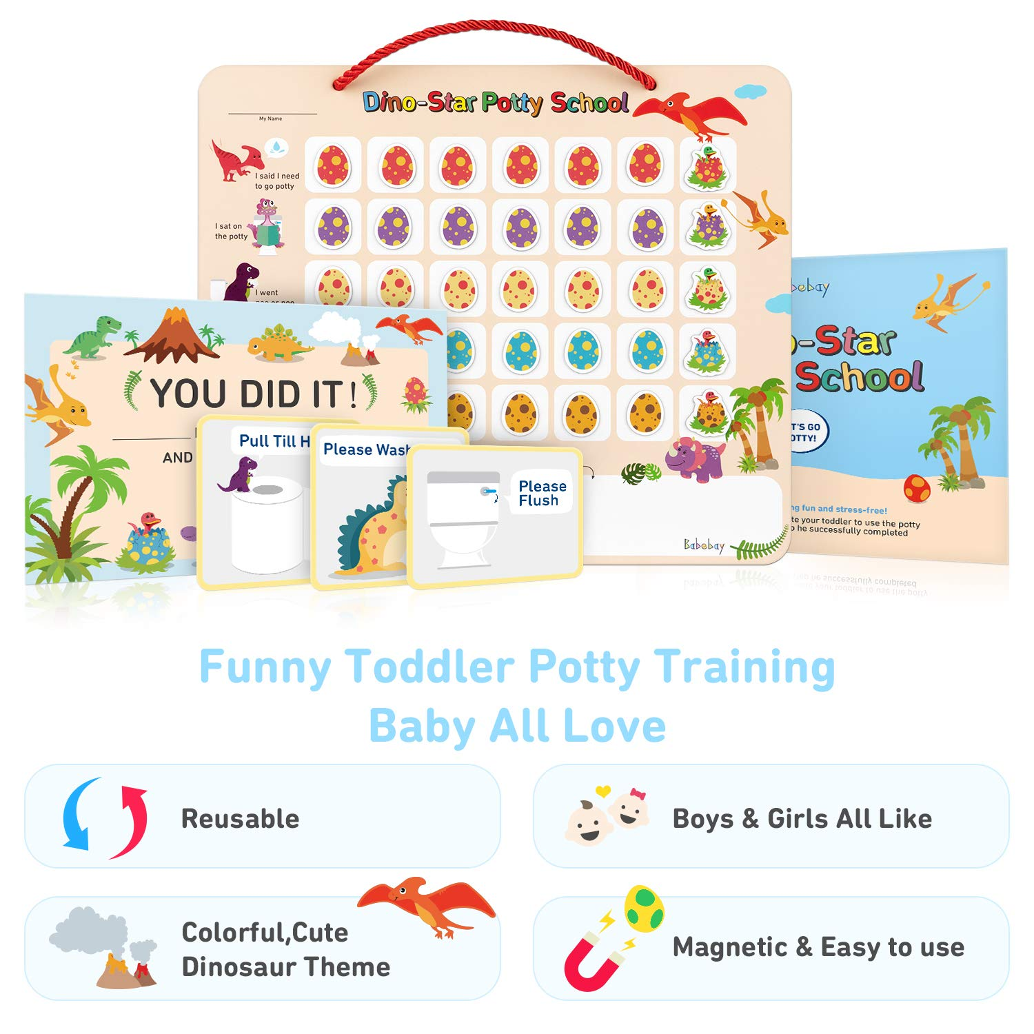 Potty Training Chart - Dinosaur School Design