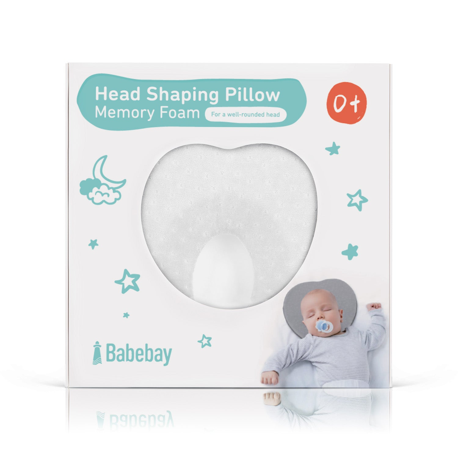 Baby Pillow For Newborn Infant (0-12months) - White